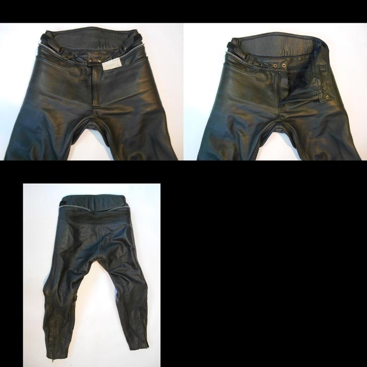 Kožené kalhoty vel. M- gumové chrániče  - Náhradní díly a příslušenství pro motocykly