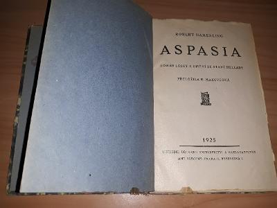 Aspasia-Robert Hamerling vydáno:1925