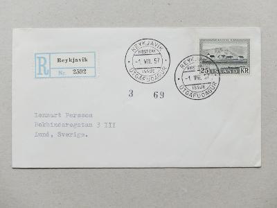 ISLAND CENNÁ FDC 1954-57 KATALOG 180 EURO