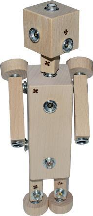 dřevěná hračka WoodFormers - Robotice (237 v 11) (roto/arctic)