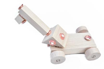 dřevěná hračka Mini Set WoodFormers - Jeřáb (104 v 8) (roto/inca)