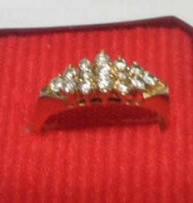 Zlatý prsten 585/14 kar 2,93 g