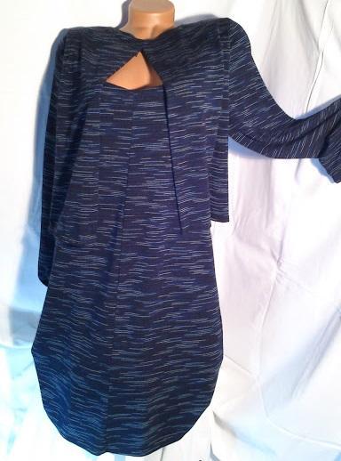 Vrstvené  pružné šaty , vel.42