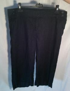 Indigově modré pevné 3/4 kalhoty, vel.52
