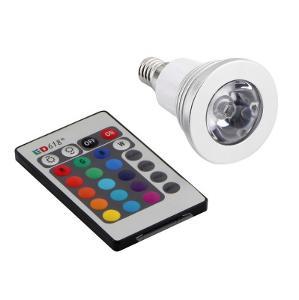 LED Žárovka 3W E14 RGB 16 Barev - Dálkové ovládání