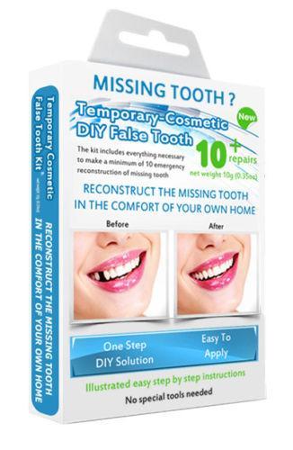 Falešné docasne umele zuby. Kosmetické-Dočasné zubní implantáty.