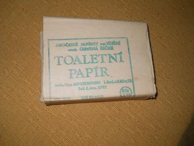 Sběratelský toaletní papír.