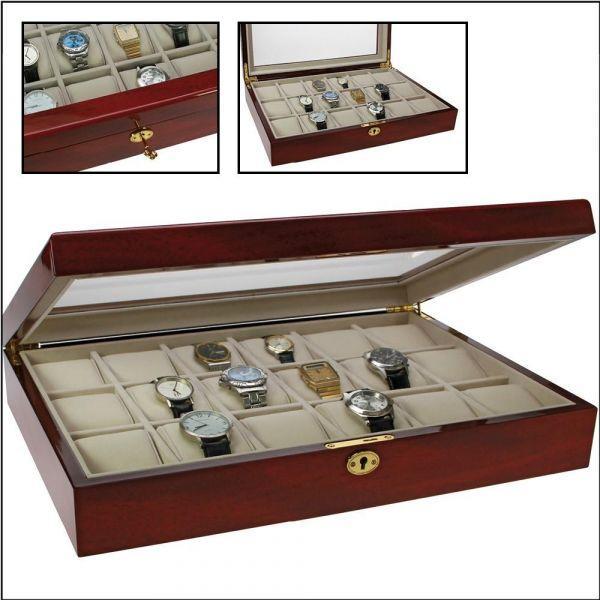 86ab84ef59b Lakovaná dřevěná kazeta na šperky či hodinky
