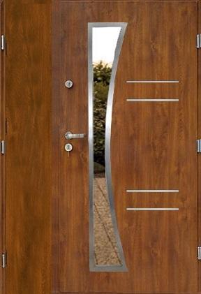Venkovní dvoukřídlé vchodové dveře RICO PLUS UNO
