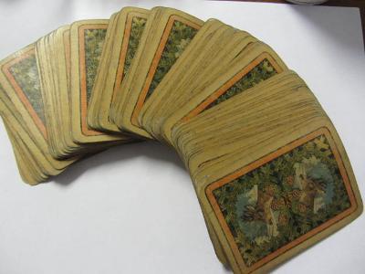 starožitné hrací karty Ferdinand Piatnik a synové Ritter a spol. 116ks
