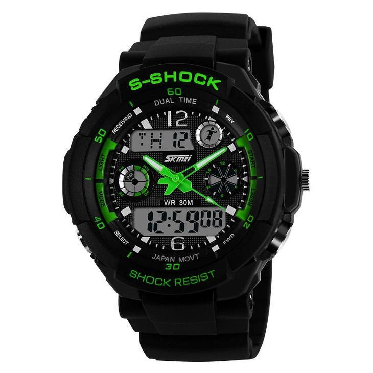 Sportovní digitální hodinky Skmei zelené  9e647f396f