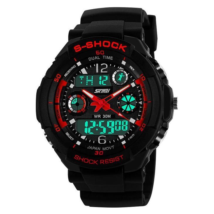 Sportovní digitální hodinky Skmei červené  6a05a094e99