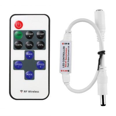Dálkové ovládání ovladač jednobarevných LED pásku