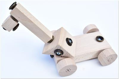 dřevěná hračka WoodFormers - Jeřáb (104 v 8) (roto/army)