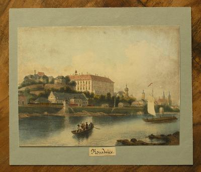 Roudnice n/L 1860 - Litografie - (H443)