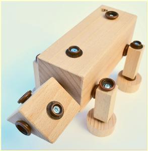 dřevěná hračka WoodFormers - Ještěr (168 v 10) (construct/safari)