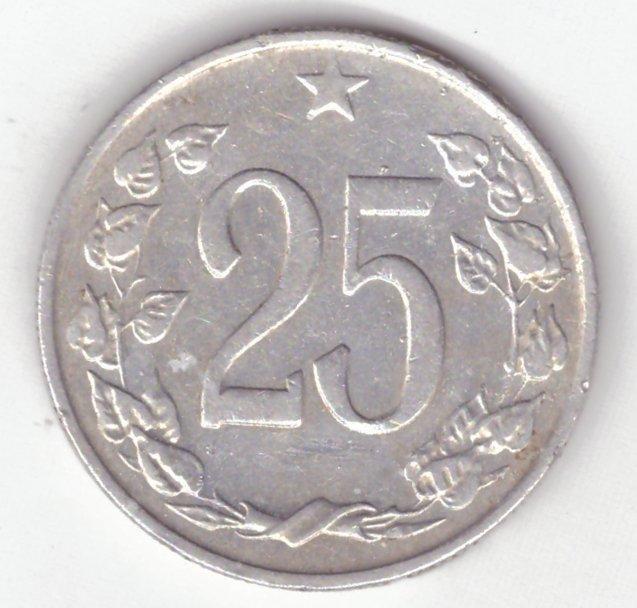29d291f96 1964 (ČSSR) - Mince 25h, vzácný ročník, vzácnost RR (3964) (6944456274)