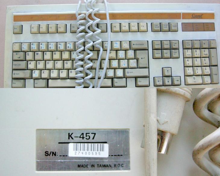 Naprosto unikátní historická mechanická (CHERRY) klávesnice COPAM AT!! - Historické počítače