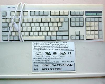 Vzácná historická klávesnice SAMSUNG AT první kde se objevila kl. WIN