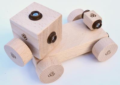 dřevěné hračky - Kačenka (95 v 8) (roto/safari) od Klik-Klap