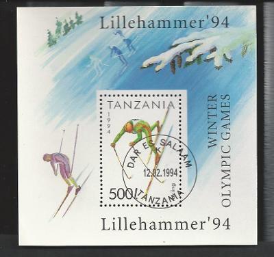 TANZÁNIE 1712 (bl.239) Sport LILLEHAMMER 1994