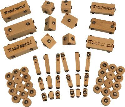 dřevěné hračky od Klik-Klap - Základní sestava II (construct/arctic)