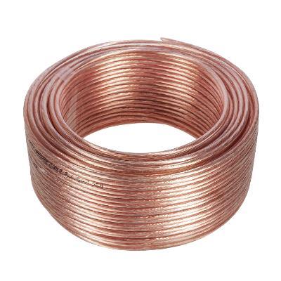Reproduktorový kabel 2 * 1,5mm2 délka 25m PVC průhledný