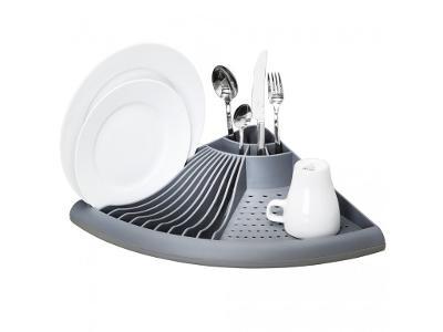 WENKO,Rohová sušička nádobí, odkapávač