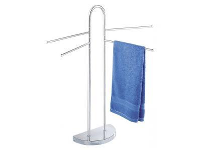 Koupelnový věšák na ručníky - 4 ramenný, chromovan
