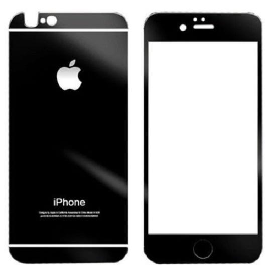 Tvrzené ochranné černé zrcadlové sklo přední + zadní pro Iphone 6 6S  (6929867515) d1bf8877000