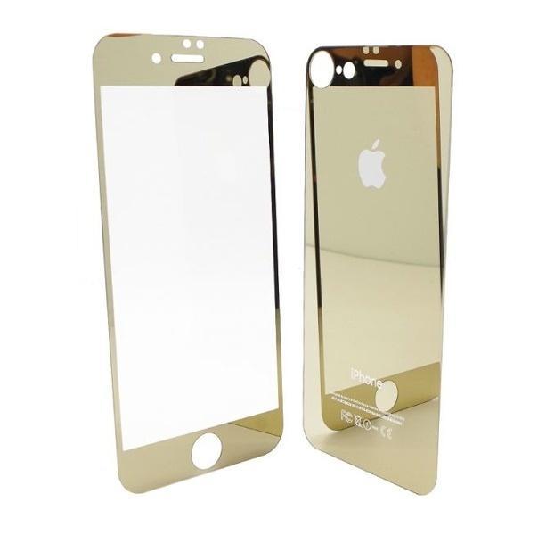 153b80cb3 Tvrzené ochranné zlaté zrcadlové sklo přední + zadní pro Iphone 8  (6931179581)