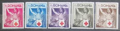 Rumunsko 1941 Červený kříž Mi# 696-700 Kat 10€ 0679