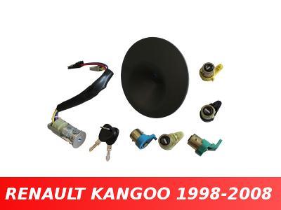 Spínačí skříňka + vložky zámku dveří RENAULT KANGOO 1998-2008