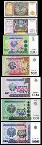 UZBEKISTÁN SADA 50+100+200+500+1000+5000+10000 Sum 1994-2017 UNC