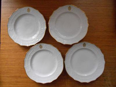 Čtyři talíře WAHLISS, zač. 20. století, perfektní stav
