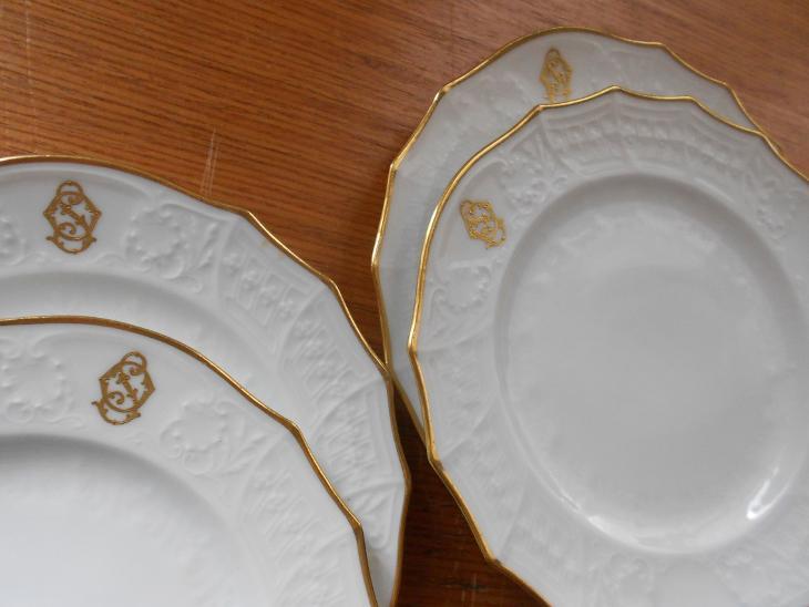 Čtyři talíře WAHLISS, zač. 20. století, perfektní stav - Porcelán
