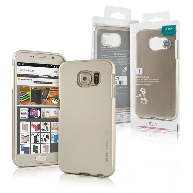 Zlatý zadní kryt obal MERCURY pro iPhone 6 6S + ochranné sklo ZDARMA ... da3ae4c1896