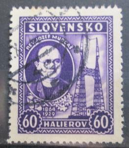Slovensko 1939 Jozef Murgaš Mi# 46 0099