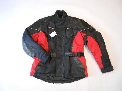 Textilní bunda s kůží STREET CYCLE vel. M- odep. termovložka