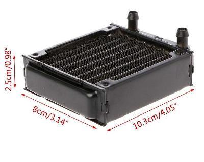 ARDU223 Vodní chladič (radiátor) Al 8 x 10cm