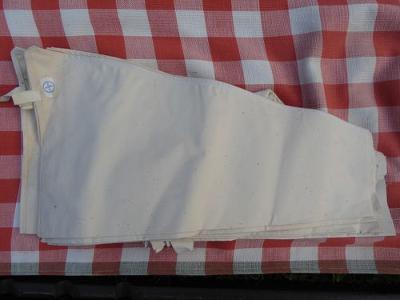 Cukrářský trezírovací sáček textilní, šitý, 17 ks
