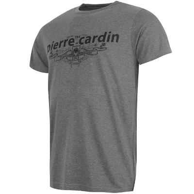 Pánské šedé tričko PIERRE CARDIN 050518093a