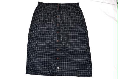 Super černá lehoučká kostkovaná sukně Uli Baus 5a632fdf63