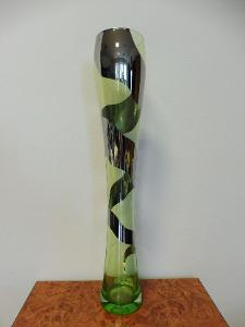 Skleněná váza pokovená