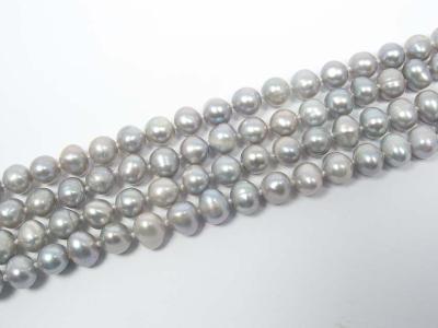 Perly stříbrné 7mm, korálky Pl37