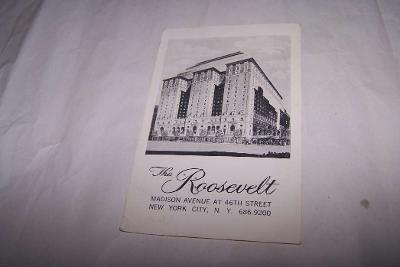 USA AMERIKA NEW YORK CITY THE ROOSEVELT /pd1/
