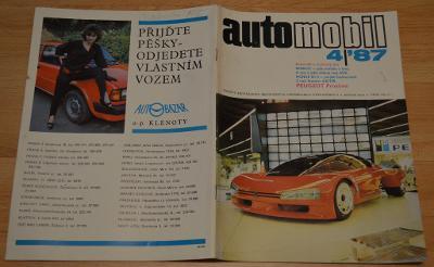 VELOREX / MOTO NA HRADĚ / ESO / AVIA FOMULE - AUTOMOBIL 4/1987