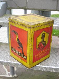 MUSCALLA stará plechovka - tukan - černoušek