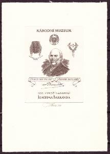 ČERNOTISK J. BARRANDE BEZ ČÍSLA, PODPIS RYTCE J. TVRDOŇ (T5236)