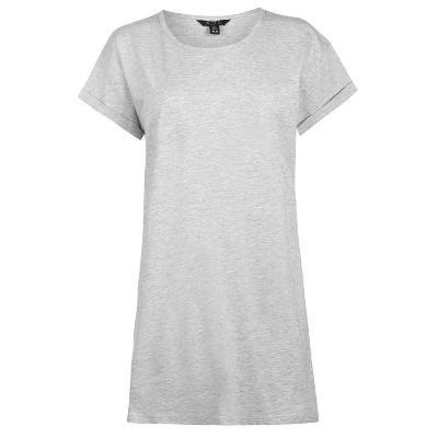 Dámské světle šedé dlouhé tričko - 100% bavlna  35d418aa0f